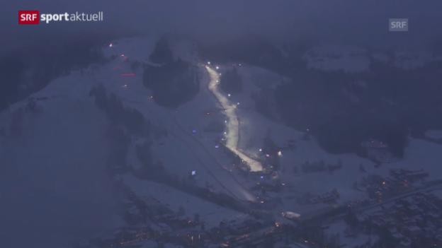 Video «Ski alpin: Zusammenfassung Super-Kombination in Kitzbühel («sportaktuell»)» abspielen
