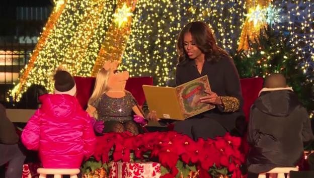 Video «Weihnachtszeremonie vor dem Weissen Haus» abspielen
