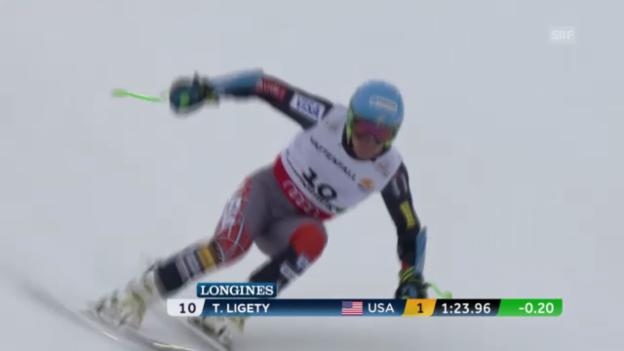 Video «Ski-WM: Super-G, Fahrt von Ted Ligety» abspielen