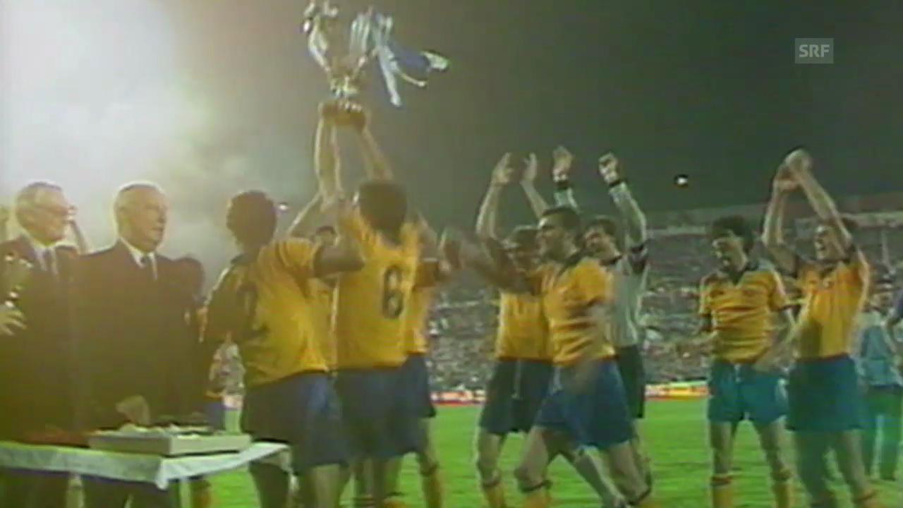 Fussball: Cupsiegercup, Final 1984 in Basel