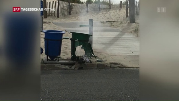 Video «Bombenexplosion in Seaside Park, New Jersey» abspielen