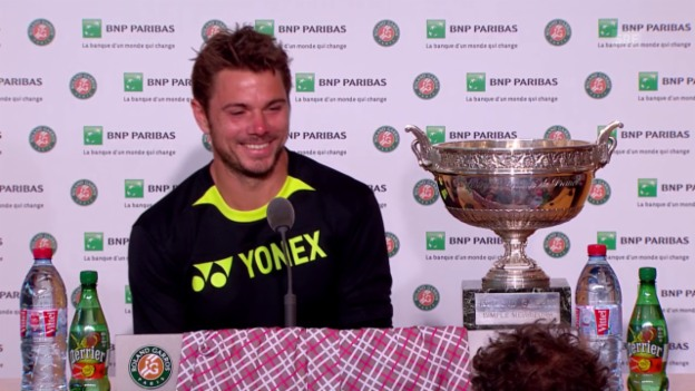 Video «Tennis: French Open, Final, Pressekonferenz Wawrinka» abspielen