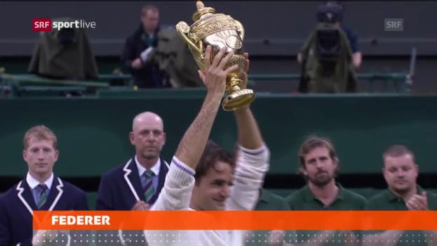 Video «Tennis: Federer in Wimbledon als Nummer 3 gesetzt» abspielen