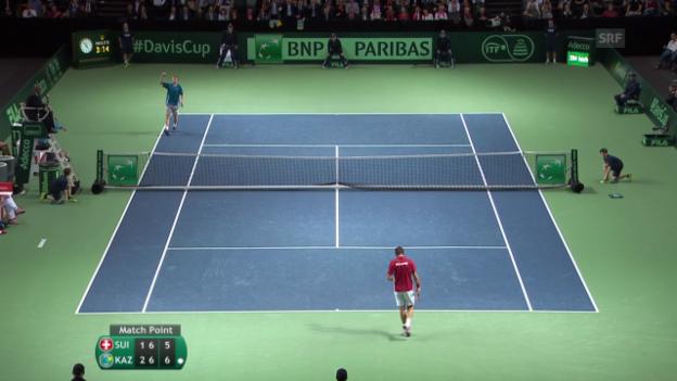 Video «Tennis: Wawrinka - Golubew: Entscheidende Bälle» abspielen