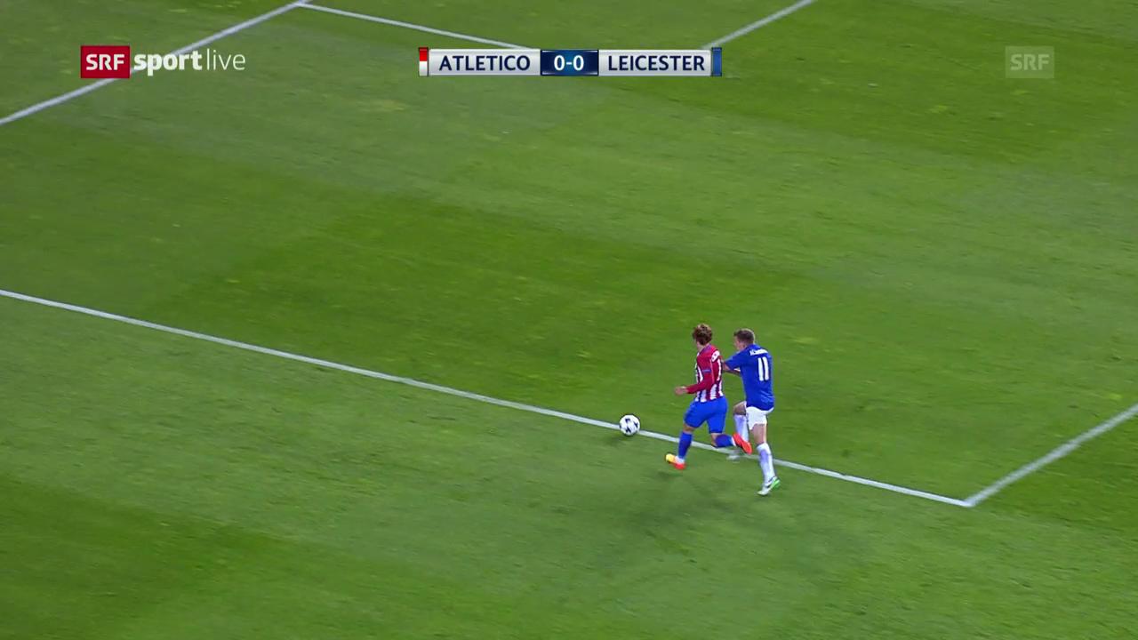Atletico-Leicester: Penalty statt Freistoss