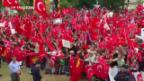 Video «Demonstrationen für und gegen Erdogan» abspielen