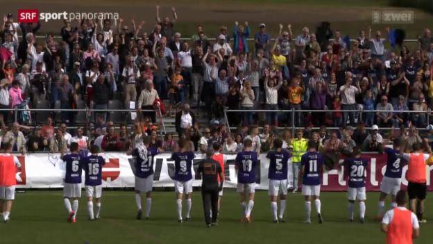Video «Fussball, Schweizer Cup: Konolfingen - Luzern» abspielen