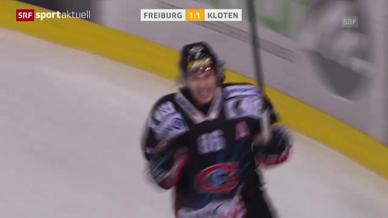 Eishockey: Playoff-Halbfinal, Spiel 5, Freiburg-Kloten («sportaktuell»)