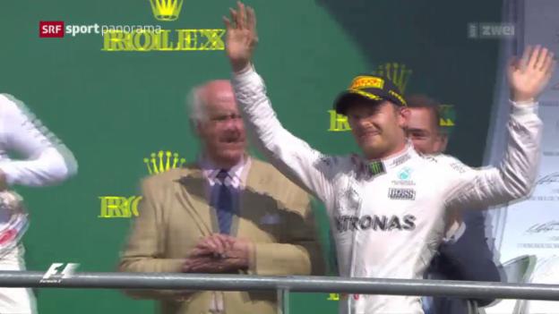 Video «Rosberg triumphiert beim GP Belgien» abspielen