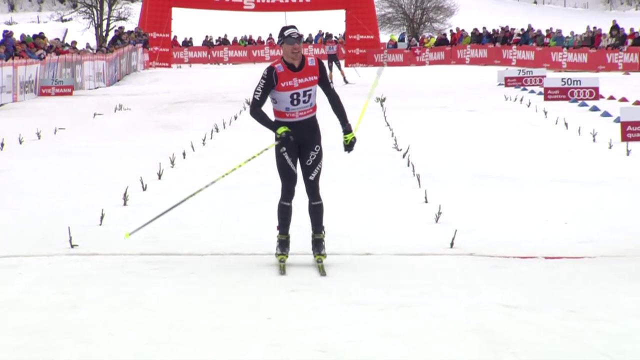 Langlauf: Dario Cologna gewinnt die erste Etappe der Tour de Ski 2015