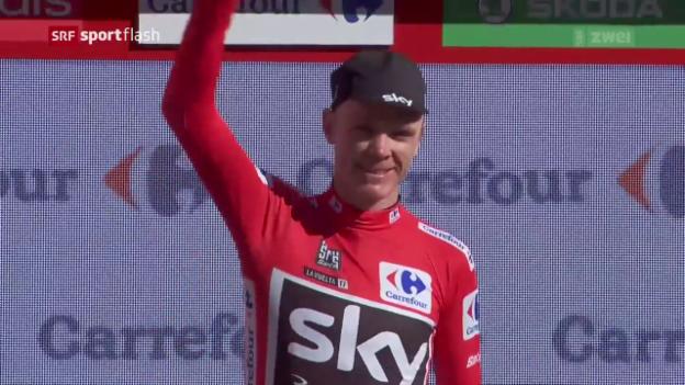 Video «Froome schon Vuelta-Leader» abspielen