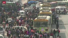 Video «Internationale Hilfe kommt kaum in Nepal an» abspielen