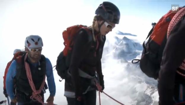Video «Linda Fäh bezwingt das Matterhorn» abspielen