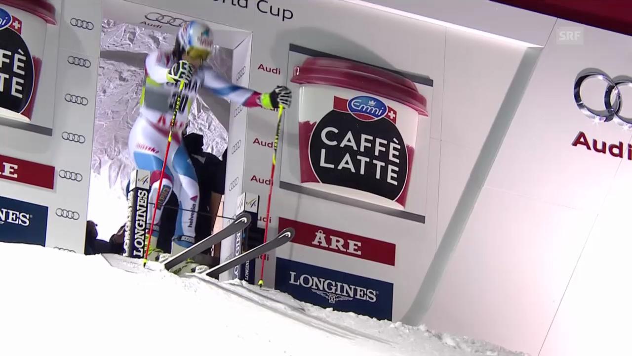 Ski: Weltcup Männer, Riesenslalom Are, 1. Lauf Caviezel