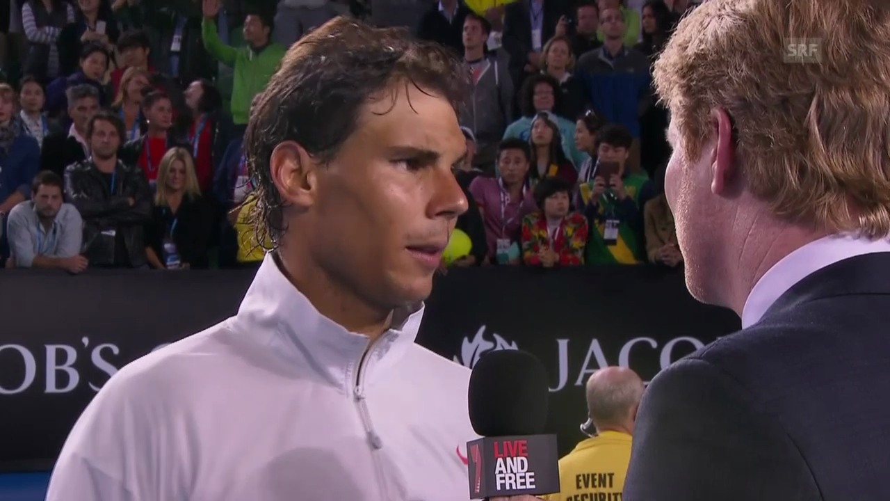 Tennis: Nadal im Platzinterview («sportlive», 24.1.14)