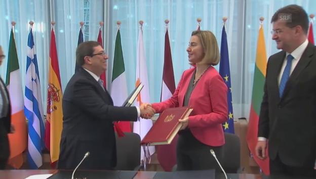 Video «Die Unterzeichnung des «historischen Abkommens»» abspielen