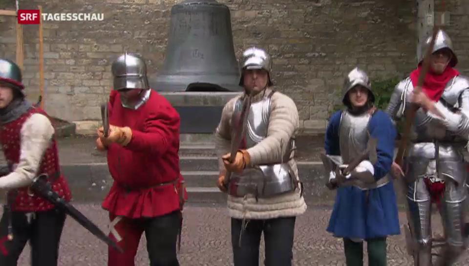 Männer in Rüstungen duellieren sich in Schaffhausen