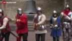 Video «Männer in Rüstungen duellieren sich in Schaffhausen» abspielen