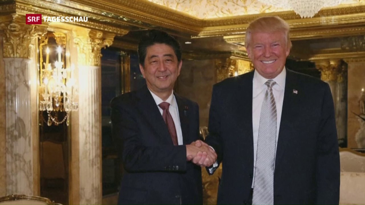 Donald Trump trifft Shinzo Abe