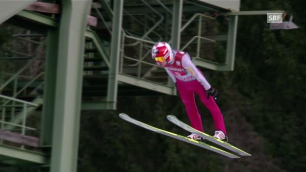 Video «Springen Garmisch: 2. Sprung Stoch» abspielen