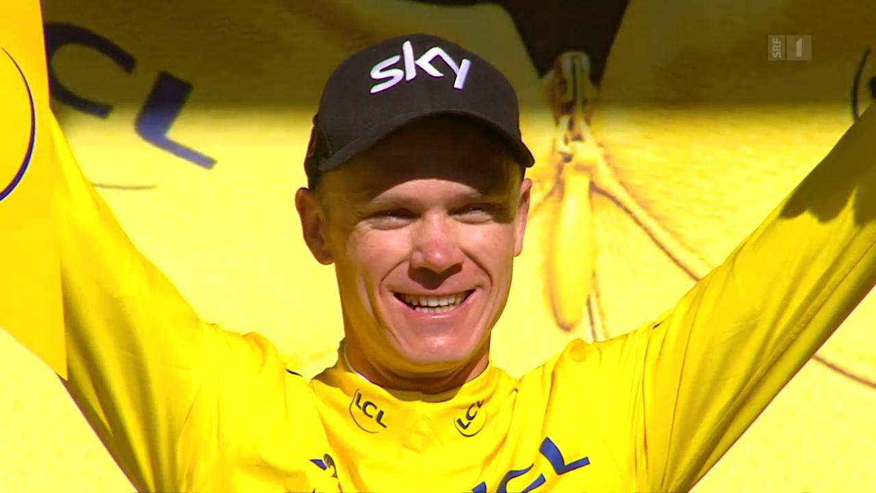 Chris Froome erobert sich das «Maillot jaune» zurück