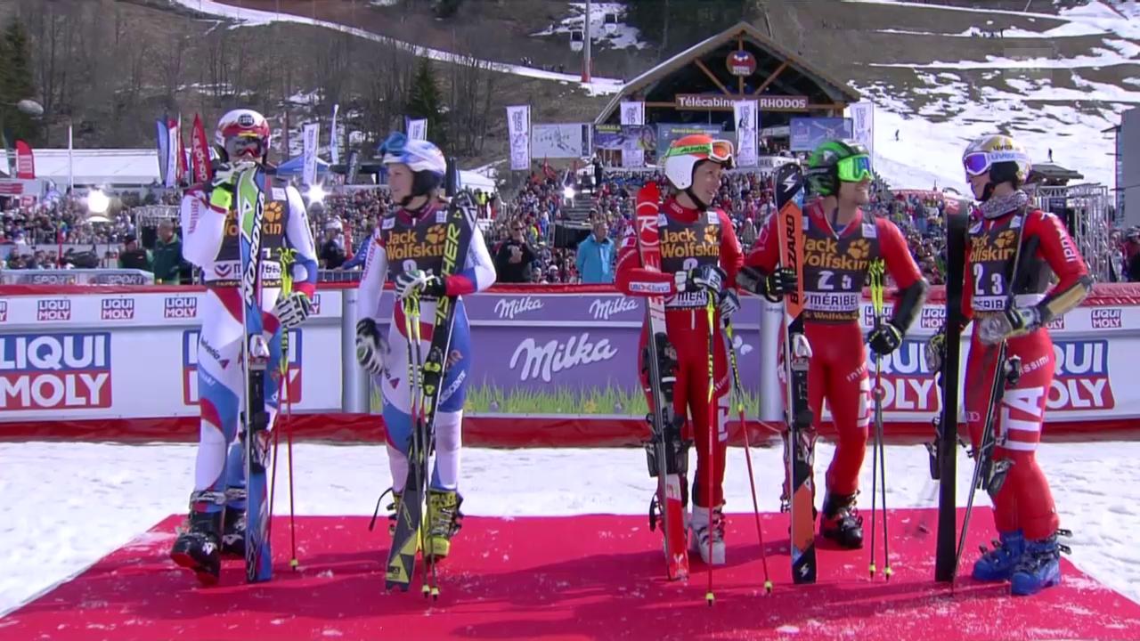 Ski: Team-Event Méribel, Halbfinal Schweiz - Italien, Duell Murisier - Razzoli