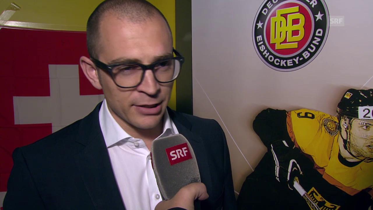 Eishockey: Deutschland Cup, Interview mit Raeto Raffainer