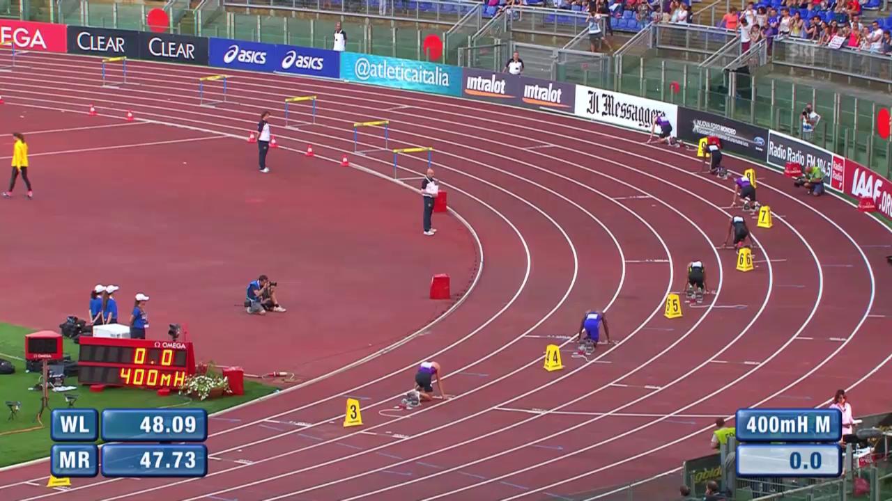 Leichtathletik: Diamond League Meeting Rom, 400m Hürden, Hussein 5.