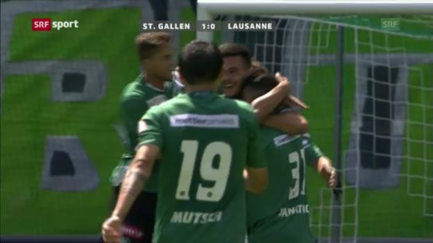 Video «Fussball: St. Gallen - Lausanne («sportpanorama»)» abspielen