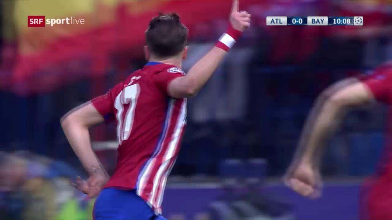 Saul vernascht die Bayern-Abwehr und trifft zum 1:0