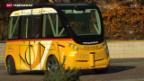 Video «Postauto Schweiz testet führerloses Postauto» abspielen
