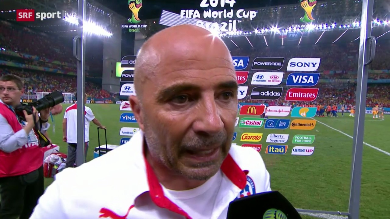 Fussball: WM 2014, Interview mit Chile-Coach Jorge Sampaoli