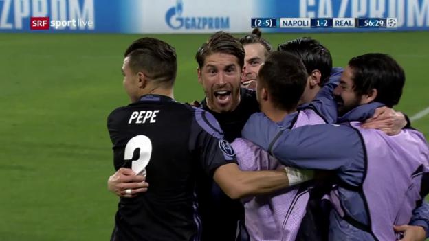 Video «Ramos trifft innert 6 Minuten 2 Mal per Kopf» abspielen