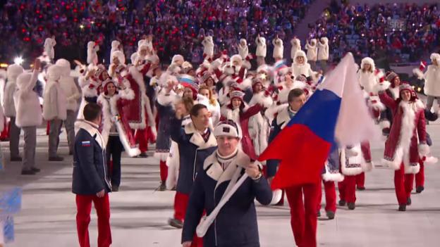 Video «Sotschi: Eröffnungsfeier, Einmarsch Russland («Sotschi direkt», 07.02.14)» abspielen