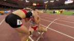Video «Leichtathletik: WM Peking 2015, Halbfinals 400 m Hürden, Heat mit Petra Fontanive» abspielen