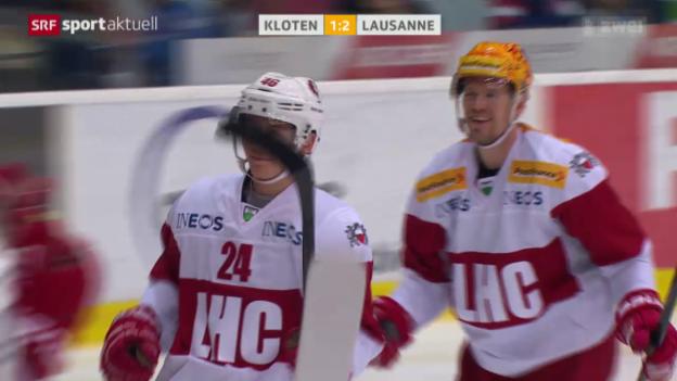 Video «Eishockey: Kloten-Lausanne» abspielen