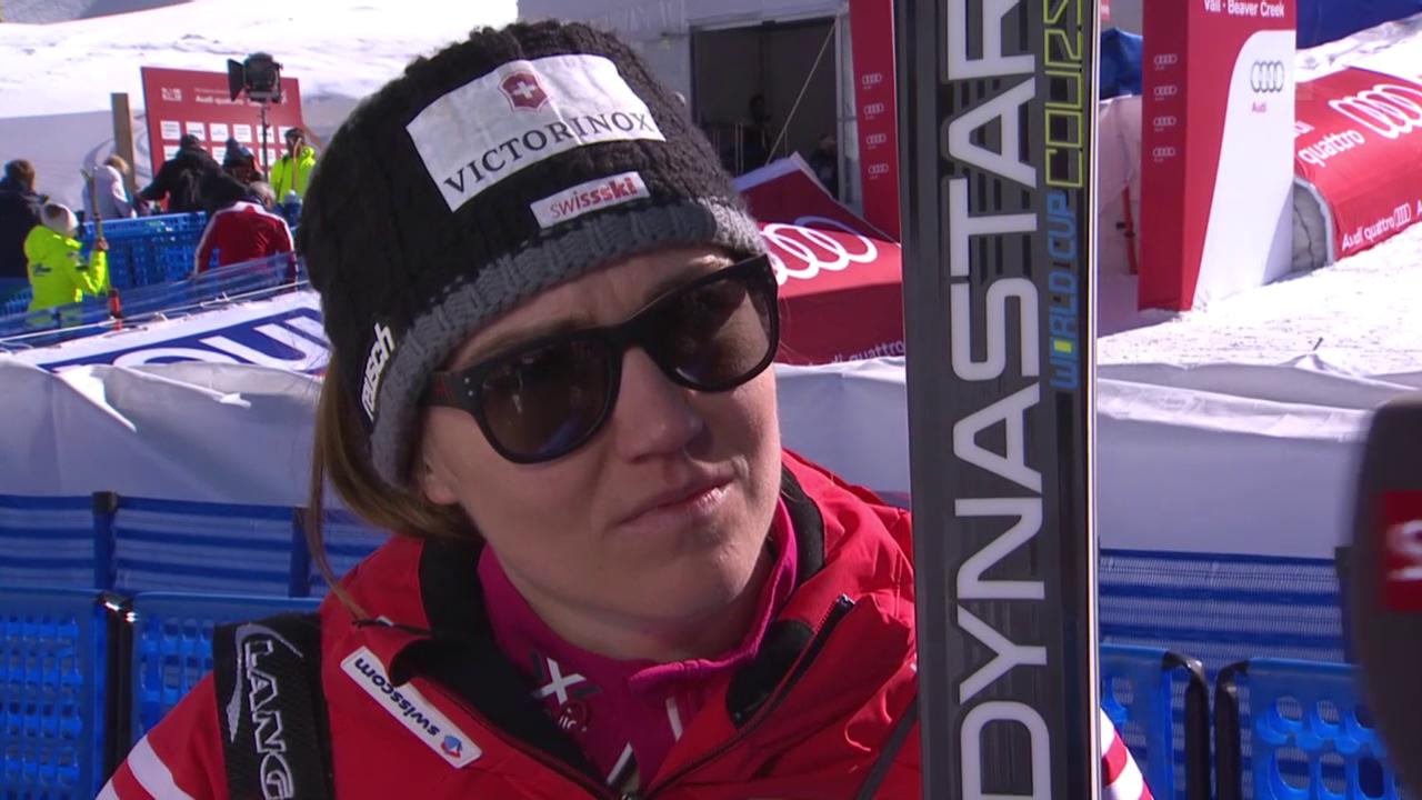 Ski: WM 2015 Vail/Beaver Creek, Abfahrt Frauen, Interview mit Fabienne Suter
