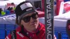 Video «Ski: WM 2015 Vail/Beaver Creek, Abfahrt Frauen, Interview mit Fabienne Suter» abspielen