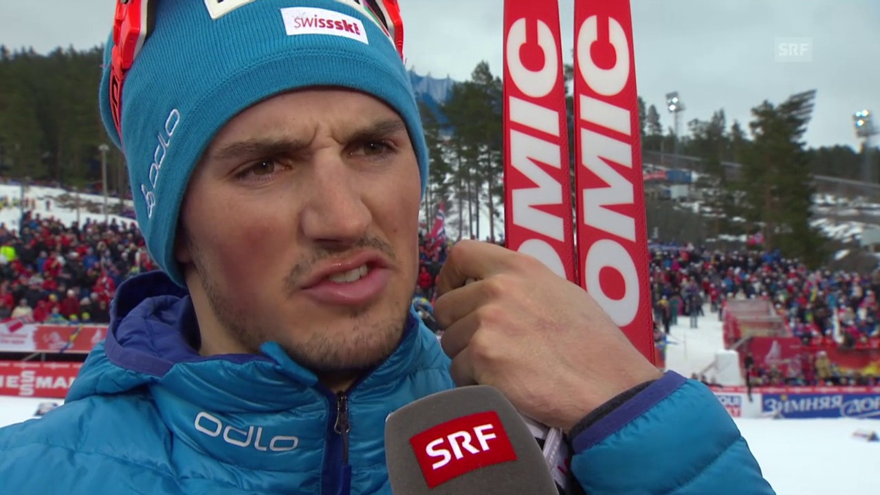 Langlauf: WM Falun, 15 km Skating, Interview Jonas Baumann
