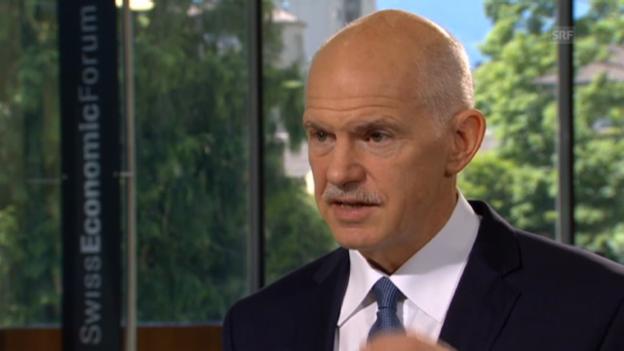 Video «George Papandreou, ehem. Premier Griechenland» abspielen