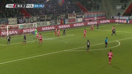 Video «Fussball: Super League, Thun - Basel, 2:0 durch Janko» abspielen