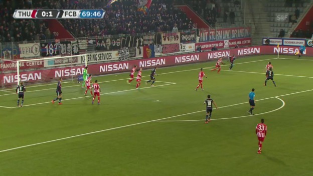 Video «Fussball: Super League, Thun - Basel, 2:0 durch Janko» abspielen
