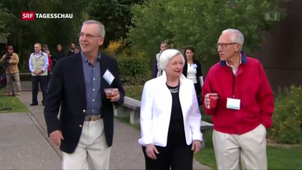 Video «Notenbanker-Treffen in Jackson Hole» abspielen