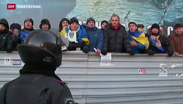 Video «Ukraine: Verhandlungen gescheitert - Proteste dauern an» abspielen