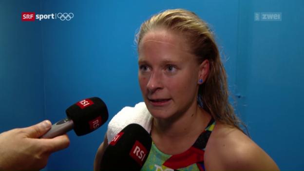Video «Martina van Berkel trotz Schweizer Rekord out» abspielen