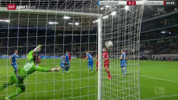 Video «Fussball: Stefan Kiesslings «Phantomtor» im Spiel gegen Hoffenheim («sportlive»)» abspielen
