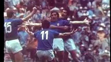 Video «Halbfinal Italien - Deutschland 1970: Grenzenloser italienischer Jubel» abspielen