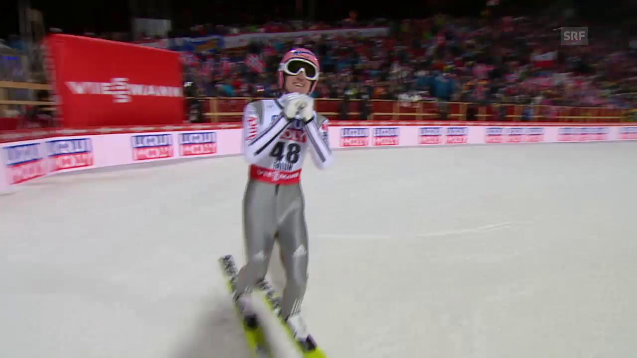 Skispringen: Nordisch-WM Falun, Grossschanze, 2. Sprung von Severin Freund