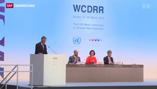 Video «UNO-Konferenz berät Katastrophenvorsorge» abspielen
