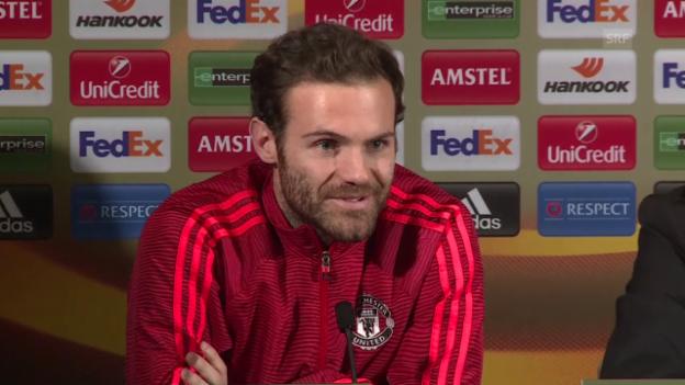 Video «Juan Mata: «Der Gewinn der Europa League wäre doppelt wichtig für uns»» abspielen